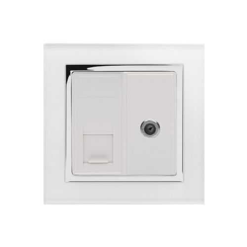 RetroTouch Cat5E/Sat Socket White CT 01810